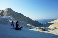 Yoga lessons at Sarakiniko